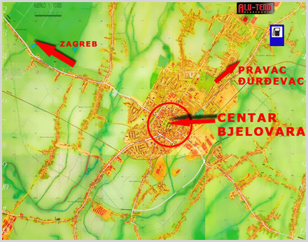 Karta Bjelovara